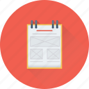 jotter, notebook, notepad, notes, writing icon