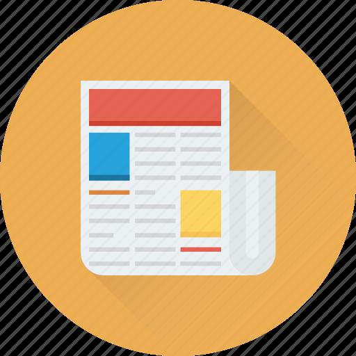 Article, blog, media, news, newsletter, newspaper icon - Download on Iconfinder