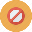 ban, blocked, cancel, forbidden, restriction icon