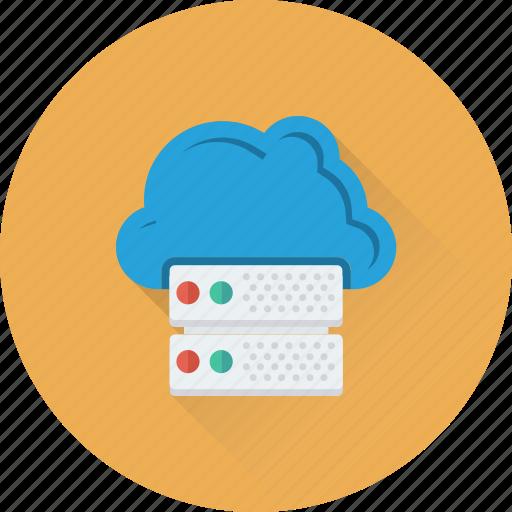 cloud computing, cloud server, cloud storage, hosting, networking icon