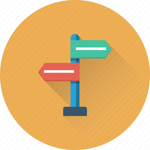 direction, finger post, guidepost, road sign, signpost icon