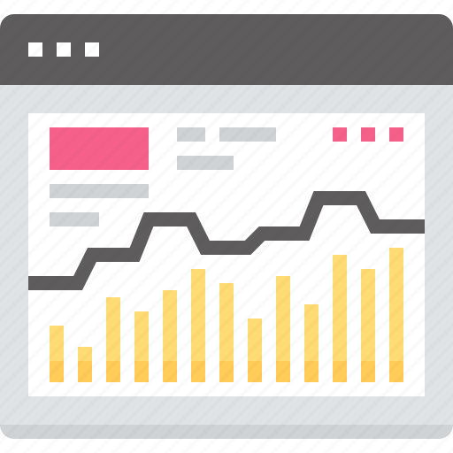 analysis, analytics, chart, graph, monitoring, statistics, web icon