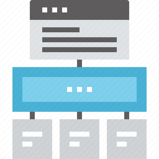 hierarchy, layout, navigation, site, sitemap, web, wireframe icon