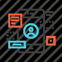 app, development, interface, mobile, ui, ux, website icon