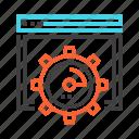 analysis, analytics, performance, speed, speedometer, statistics icon