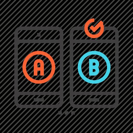 a/b, research, search, test, testing icon