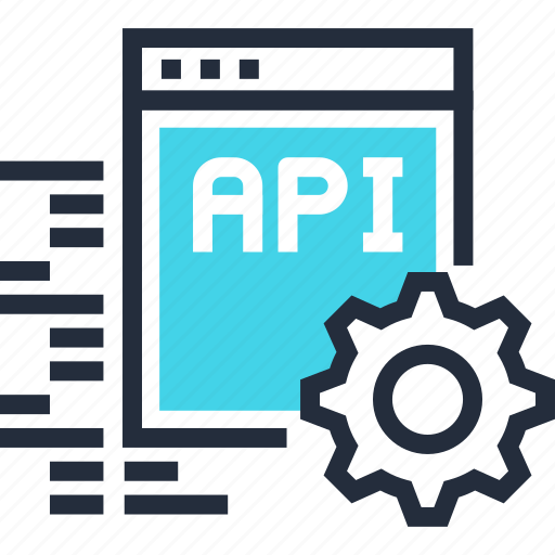 api, app, coding, development, settings, software, web icon