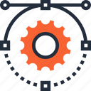 cogwheel, design, development, graphic, illustration, settings, web icon