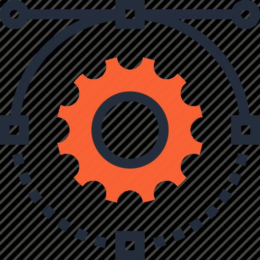 cogwheel, design, development, graphic, illustration, settings, web icon