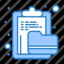 archive, clipboard, document, file, folder