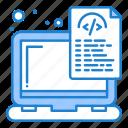 coding, device, document, files, laptop