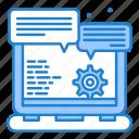 browser, gear, option, website