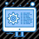 coding, development, gear, settings
