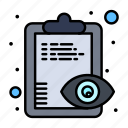 clipboard, eye, overview, view icon
