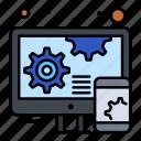 adaptive, design, responsive icon