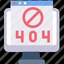 block, error, monitor, screen, webpage, website