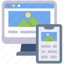 gallery, image, monitor, phone, screen, smartphone, website
