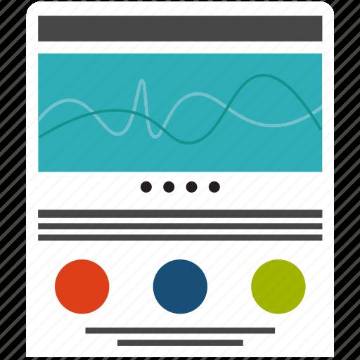 adaptive, design, development, layout, page, responsive, website icon