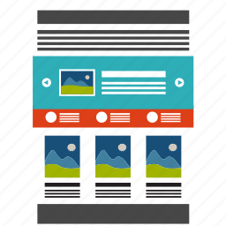 adaptive, design, landing, layout, page, template, website icon