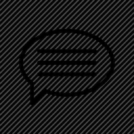 bubble, chat, conversation, discussion, message icon