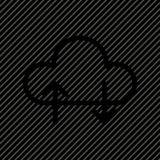 cloud, download, server, storage, upload icon
