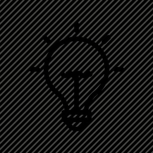 bulb, creativity, idea, lamp, light icon
