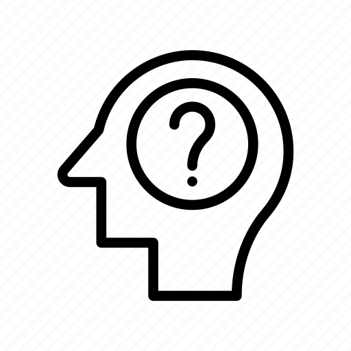 head, mind, think, thought, unknown icon