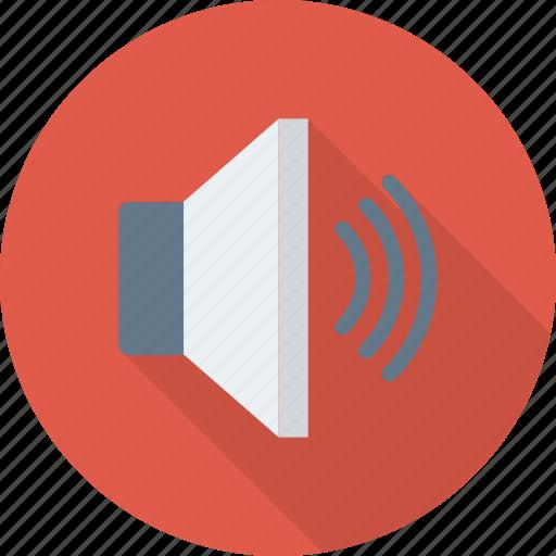 device, loudspeaker, sound, speaker, up, volume icon