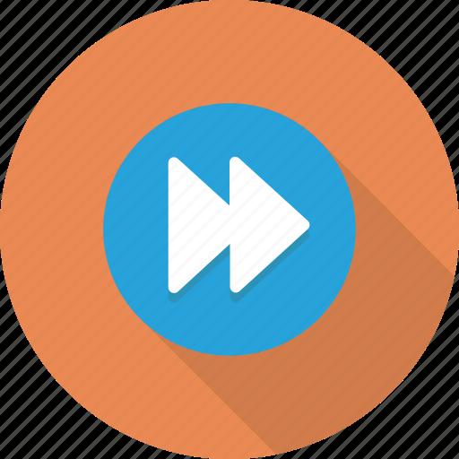 action, control, forward, media, music icon