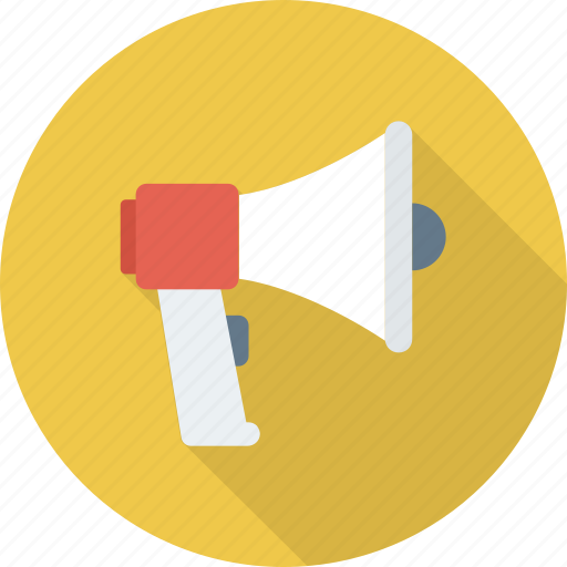 ad, advertising, alert, announcement, megaphone, news, promote icon