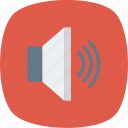 device, loudspeaker, sound, speaker, up, volume icon