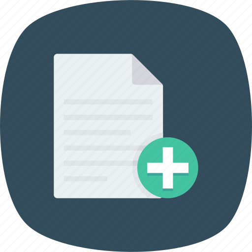 Add, document, documents, editor, file, new, page icon - Download on Iconfinder