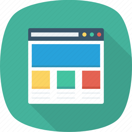 application, browser, page, web, website, window icon