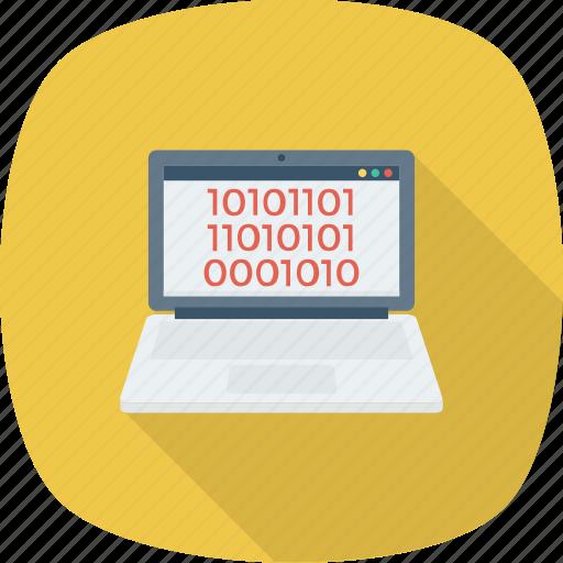 coding, development, laptop, programming icon