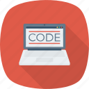 coding, development, laptop, programming icon