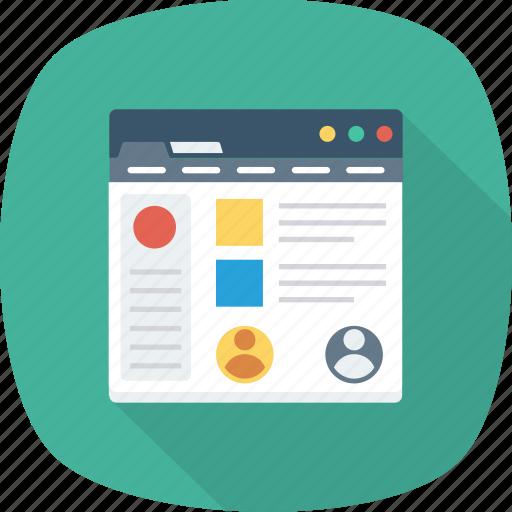 Website, web, laptop, pc, homepage, macbook icon