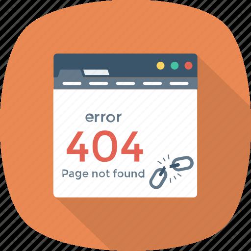 browser, error, internet, page, web, website icon