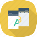 ab, comparison, test, testing, usability, web icon