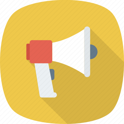 ad, advertising, alert, announcement, megaphone, news, promote icon