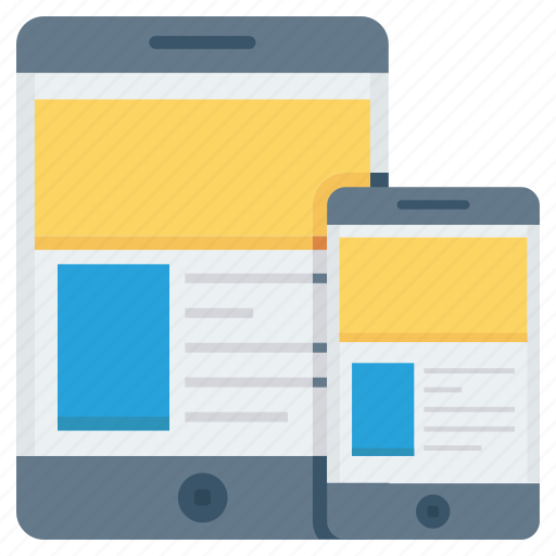 devices, mobile, responsive, tablet, website icon