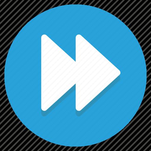 control, forward, media, music icon