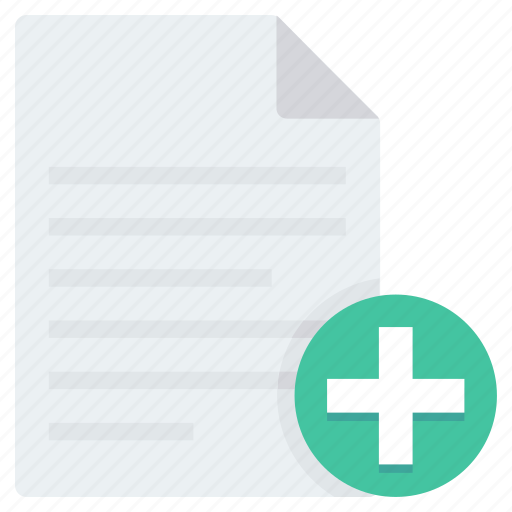 add, document, documents, editor, file, new, page icon