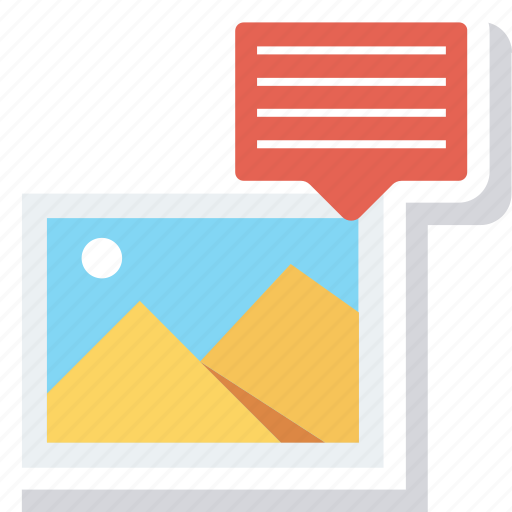 chat, comment, image, photo, photography, picture, talk icon