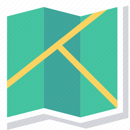 Journey, location, map, navigation, paper, travel, trip icon - Download on Iconfinder