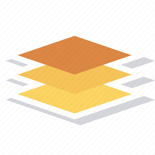 layer, layers, server, software icon