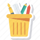 box, container, holder, pen, pencil icon