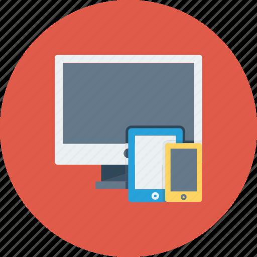 Desktop, devices, mobile, responsive, tablet, website icon icon - Download on Iconfinder