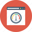 internet speed, speed test, web analyzer, web speed, website speed icon icon