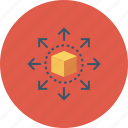 big data, cube, data, data sharing, share, storage icon icon