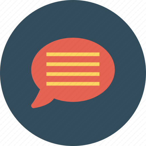 bubble, chat, comment, communication, message, speech, talk icon icon